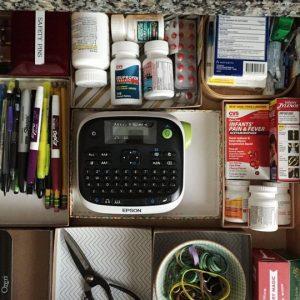 junk drawer organizing